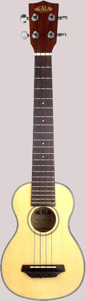 Kala Spruce Top Long Neck Acoustic Soprano ukulele (Tenor Scale)