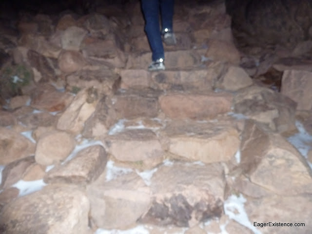 climbing the stairs of mt. sinai