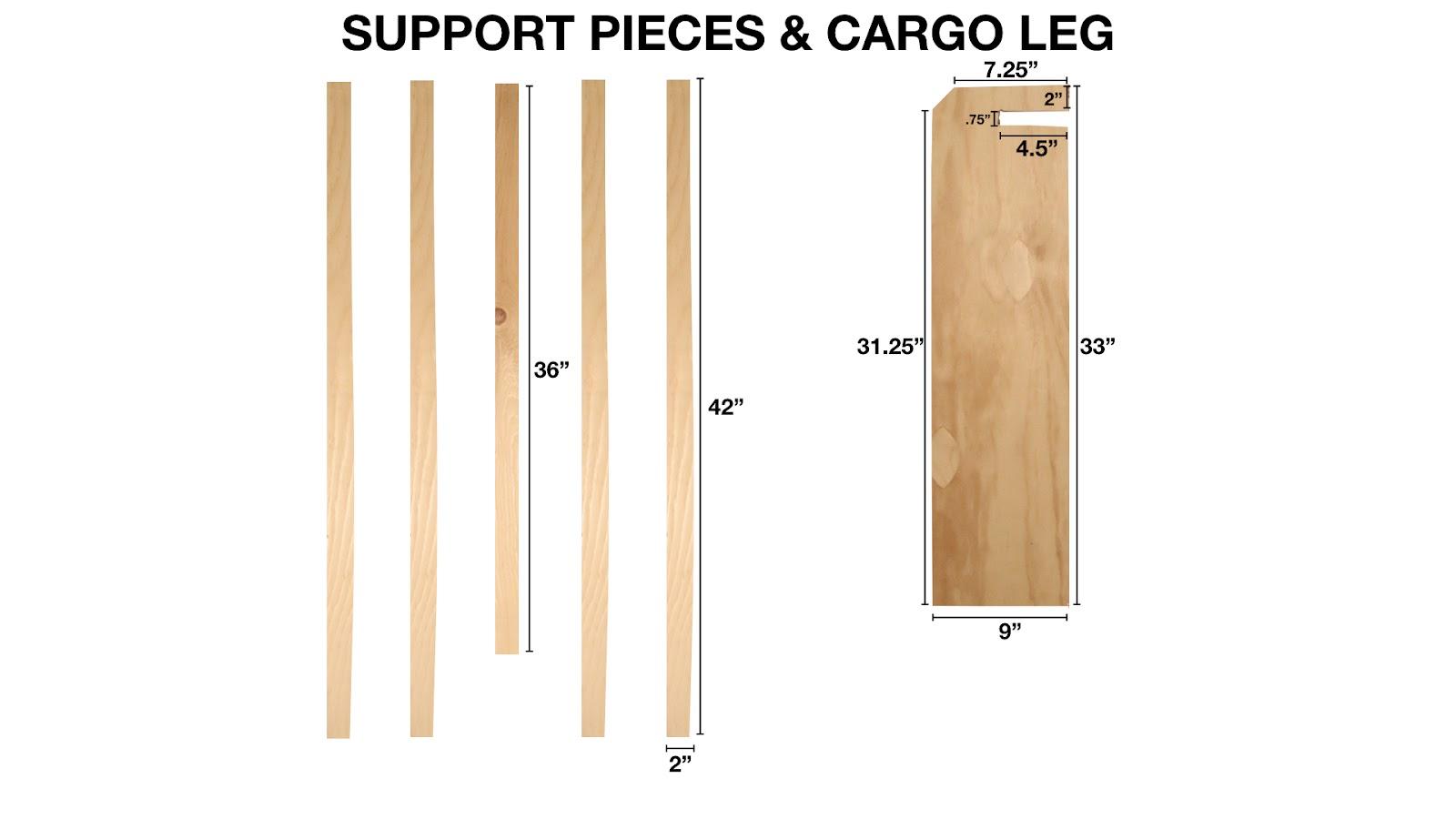 Support Pieces & Cargo Leg