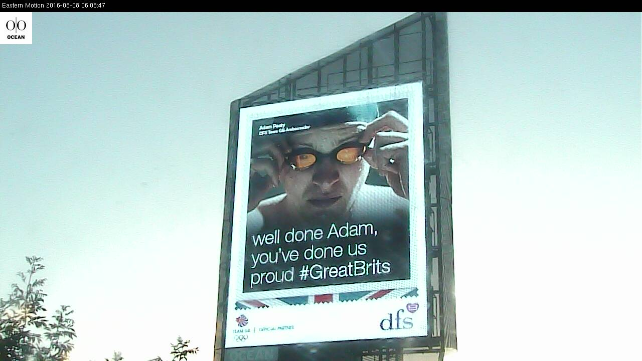 DFS celebrates 'Great Brits' — Adam Peaty's Gold Rio 2016 Win with digital OOH campaign