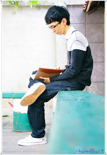 muhammad irhamna with book