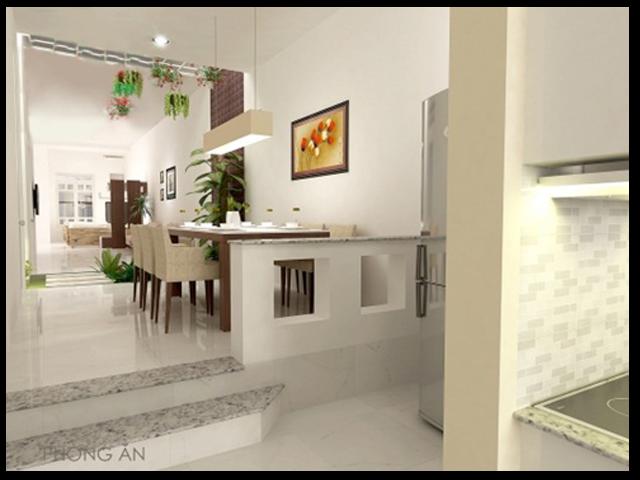 """Phối cảnh của mẫu nhà trong dự án """"xây nhà cấp 4 tron gói giá rẻ"""" tai daklak"""