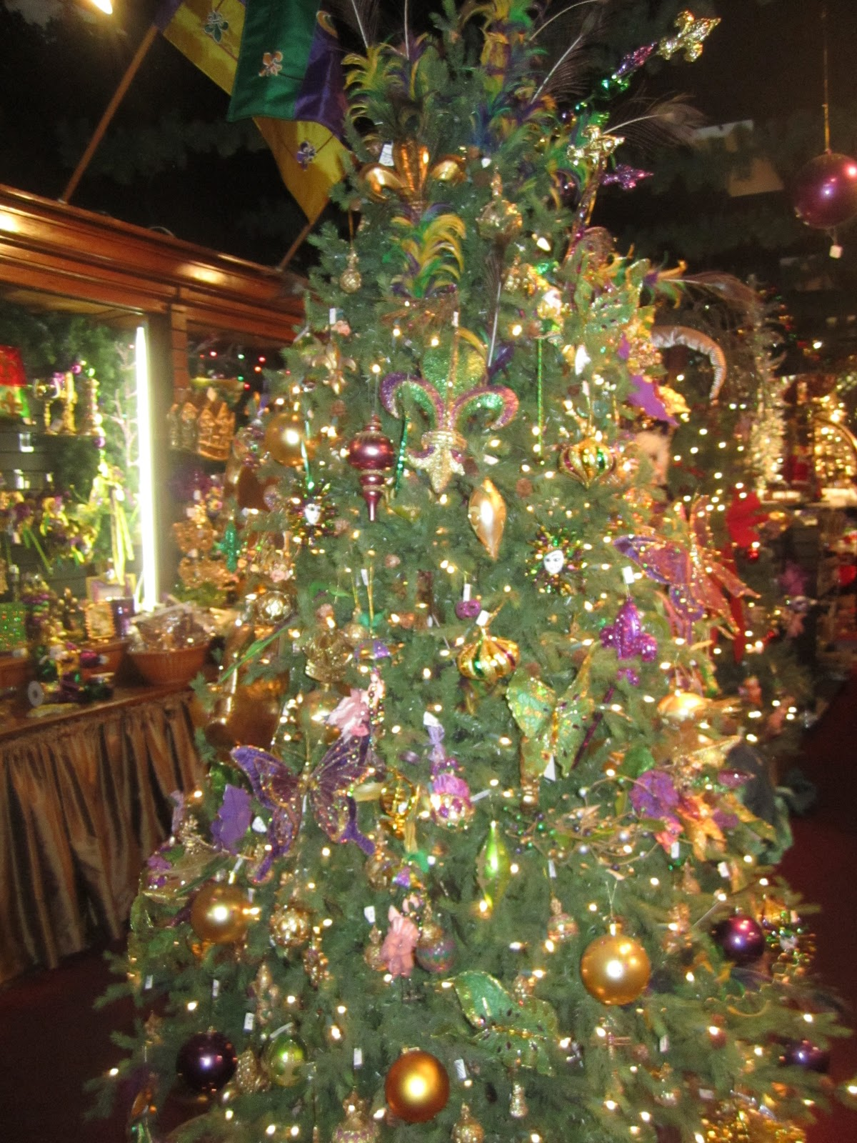 Decorated Christmas Tree Not Taking Water : Bywater boo only in new orleans mardi gras home decor