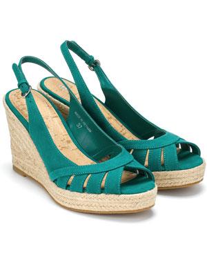 Monsoon Teal Espadrilles Wedges Shoes