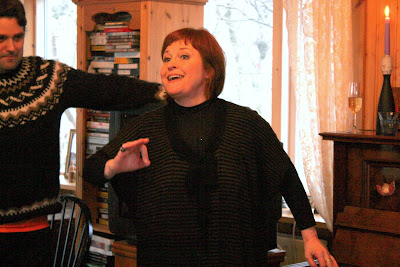 Icelandic singer in her home in Reykjavik Iceland