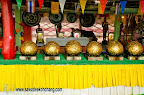 Balls covered of coins and gold at Wat Klong Prao