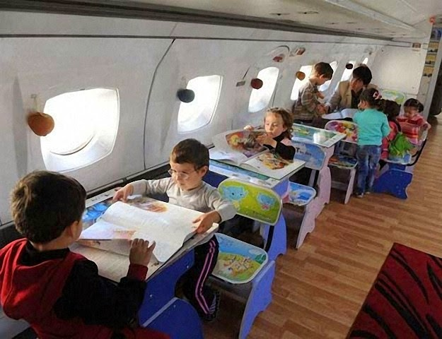 Hô biến máy bay cũ thành nhà trẻ