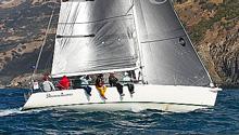 J/120 sailing around Catalina Island