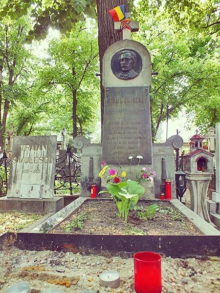 mormant mihai eminescu cimitir bellu