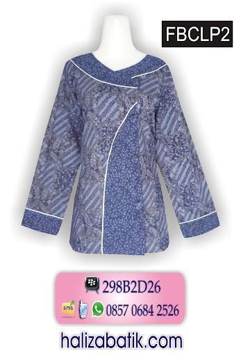 baju batik pekalongan, blus batik modern, toko baju batik online