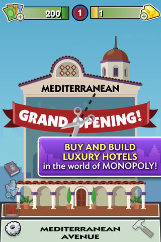 Monopoly hotels game for iphone