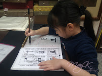 Teresa starts her learning of Chinese Calligraphy.