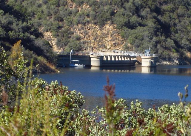 folks on the dam