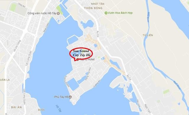 Vị trí của dự án chung cư Sun Grand City Quảng An.
