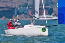 J/70 sailing on San Francisco Bay