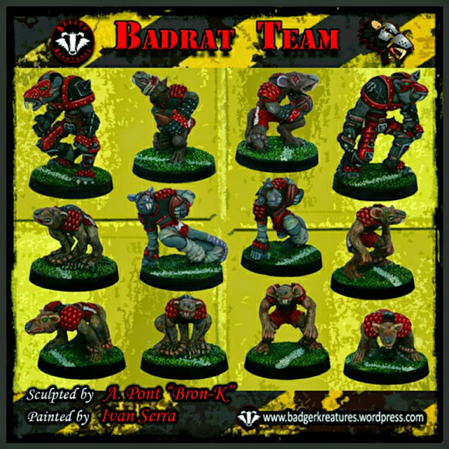Badger Kreatures ratas para Blood Bowl