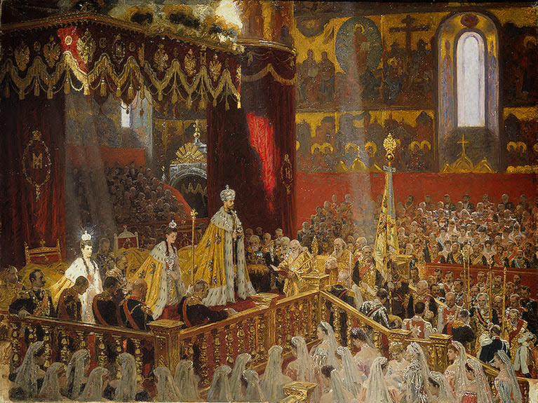 Laurits Tuxen - Coronation of Nicholas II and Alexandra Fyodorovna
