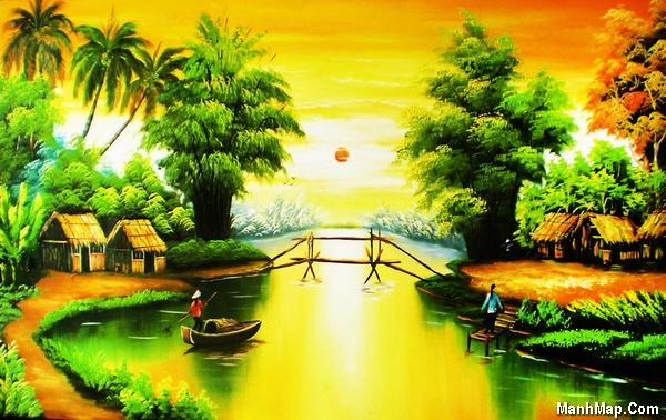 thơ quê hương với dòng sông nhỏ