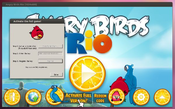 Activar Angry Birds en Ubuntu
