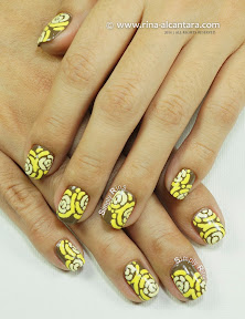 Merry Go Yellow Nail Art by Simply Rins