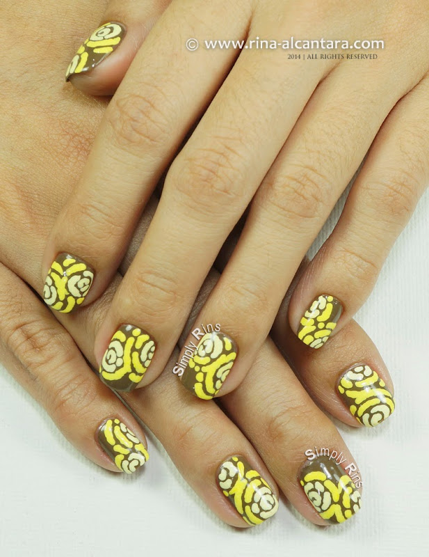 Merry Go Yellow Nail Art Design by Simply Rins