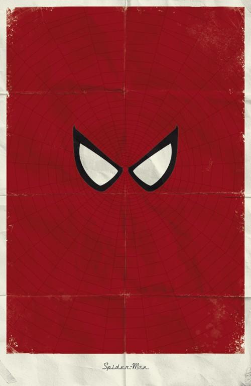 Carteles Minimalistas de Super Heroes de Marvel