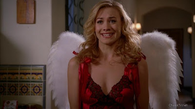 Yvonne Strahovski with wings
