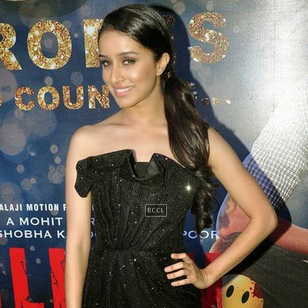 Shraddha Kapoor strikes a pose for the lens during the success party of Bollywood movie 'Ek Villain', held at Ekta Kapoor's residence on July 15, 2014.(Pic: Viral Bhayani)