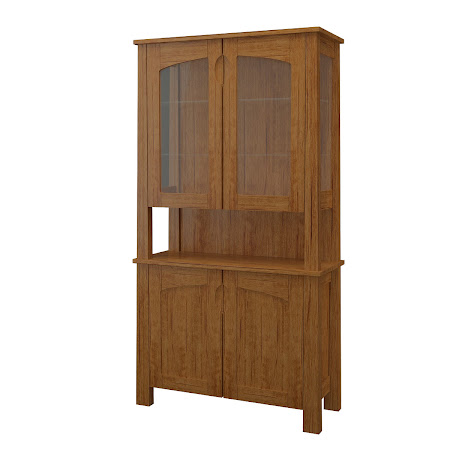 Luxor China Cabinet in Como Maple