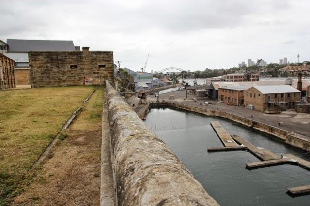 Parade ground and Sunderland Dock, Cockatoo Island, Sydney Harbour