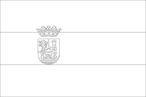 Bandera De Extremadura Para Colorear