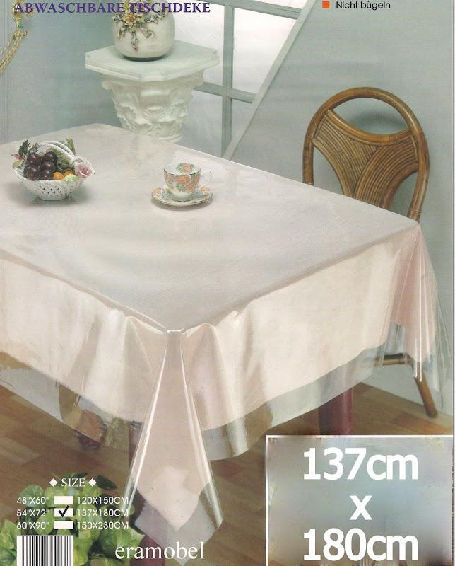 150cm rund transparent schutz durchsichtig tischdecke abwaschbar ebay. Black Bedroom Furniture Sets. Home Design Ideas