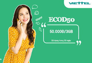 Có 3GB giá rẻ chỉ 50.000đ với Gói ECOD50 Viettel