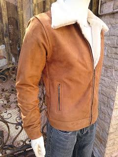 áo khoác da lộn lót lông cừu cao cấp nam