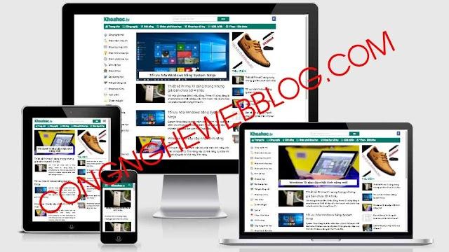 Template blogspot khoahoc.tv chia sẻ bởi Congnghewebblog