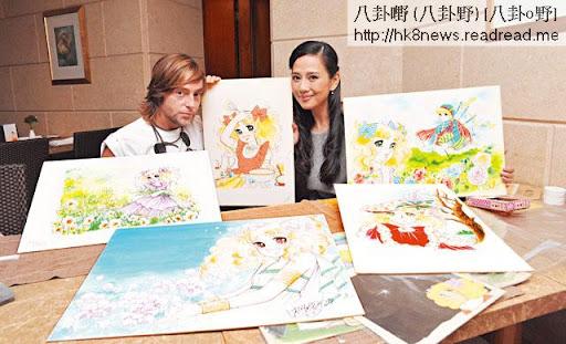 松松與另一《小甜甜》狂迷 Yorgo見面,一見對方收藏五十嵐優美子親筆畫的水彩畫愛不釋手,之後兩個知音人更交換 email聯絡,交流收藏心得。