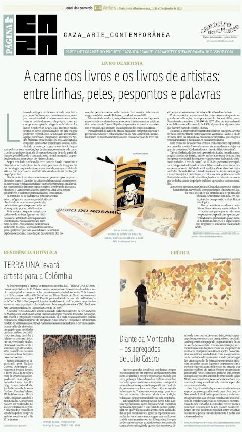 Página da Caza - 11 de Janeiro de 2013