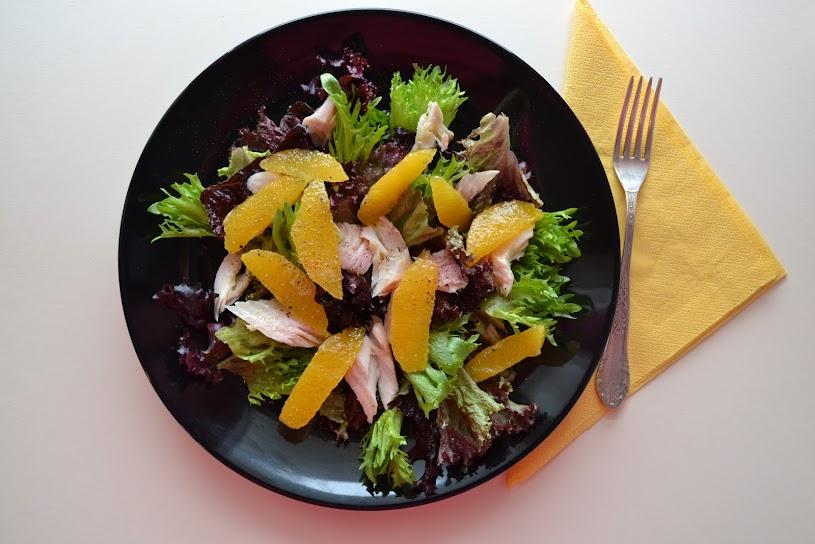 Smoked trout, orange, rocket / arugula salad