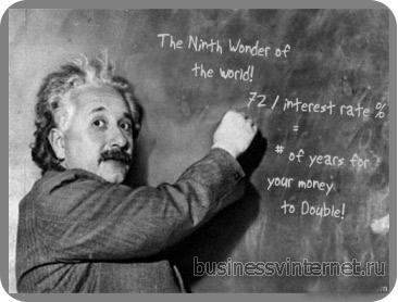 Альберт Энштейн о сложном проценте