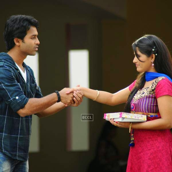 Ajay and Kousalya in a still from Telugu movie Gallo Telinattunde. (Pic: Viral Bhayani)