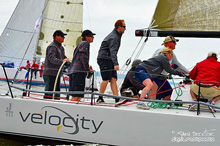 J/111 Velocity from Annapollis sailing past mark