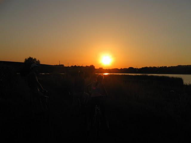 велосипедная прогулка Слатино закат