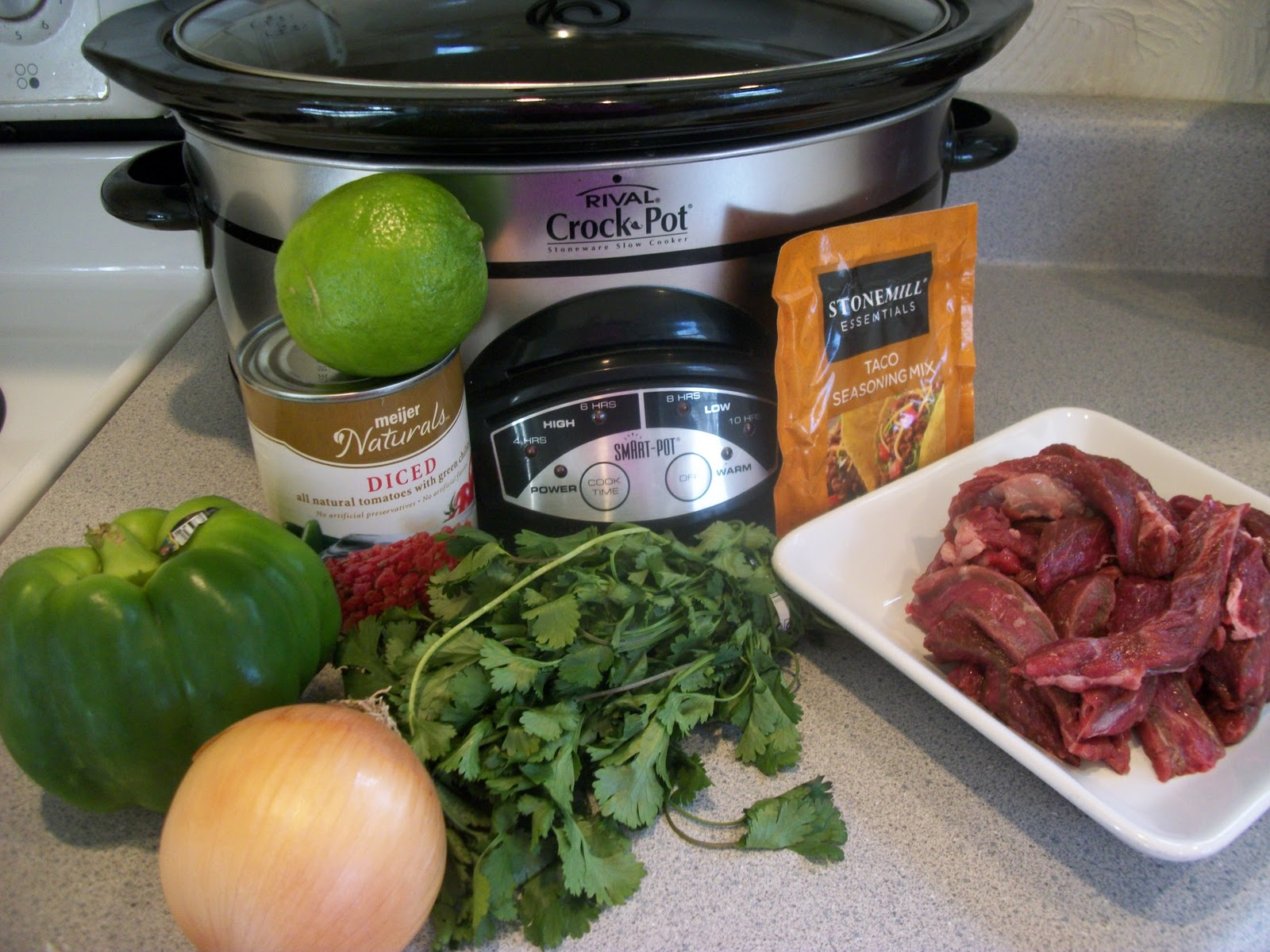 how to make steak tacos in a crock pot