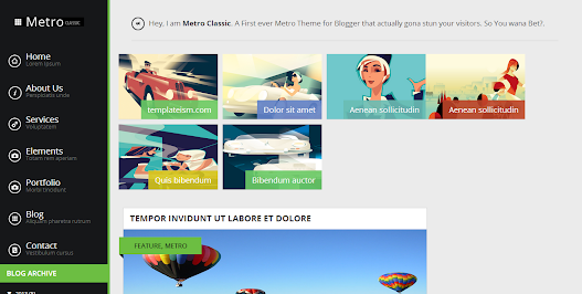 Metro Classic Blogger Teması