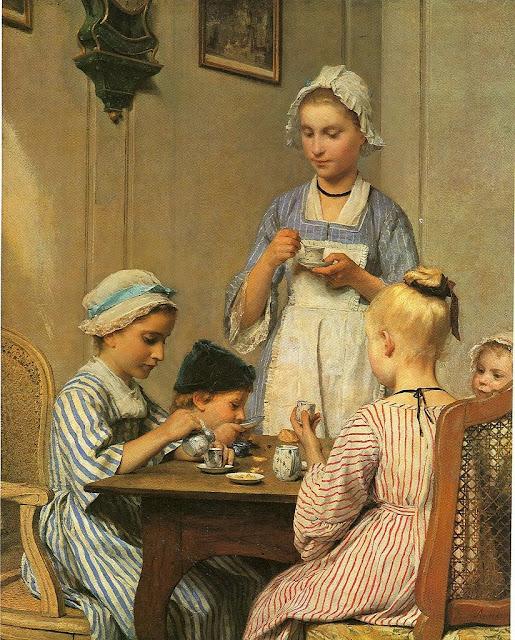 Albert Anker - Kinderfrühstück 1879