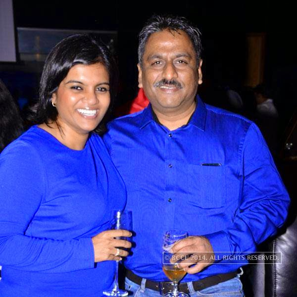 Shree and Surindher during an event called A New Perspective on Creativity, held at Le Meridien in Bangalore. <br />