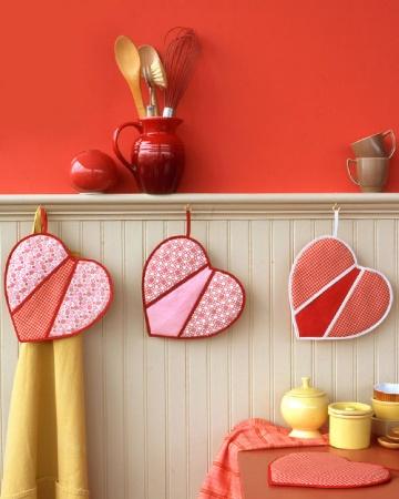 luva de forno patchwork coração