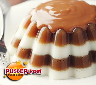 puding coklat berlapis putih bahan puding coklat berlapis putih 2
