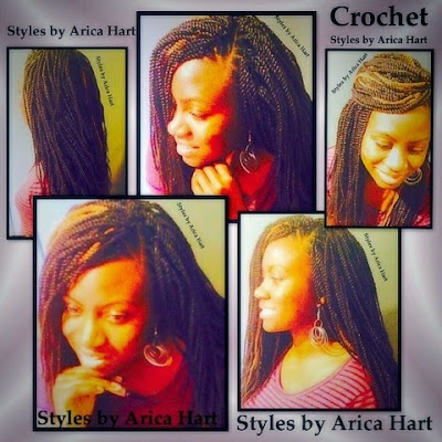 Crochet Senegalese twist hair styles by Arica Hart