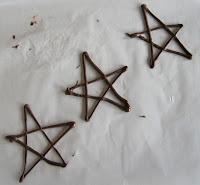 estrelas natal chocolate